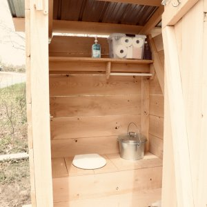 Vermicompsting Outhouse