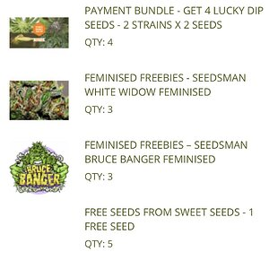 Seed Order Freebies