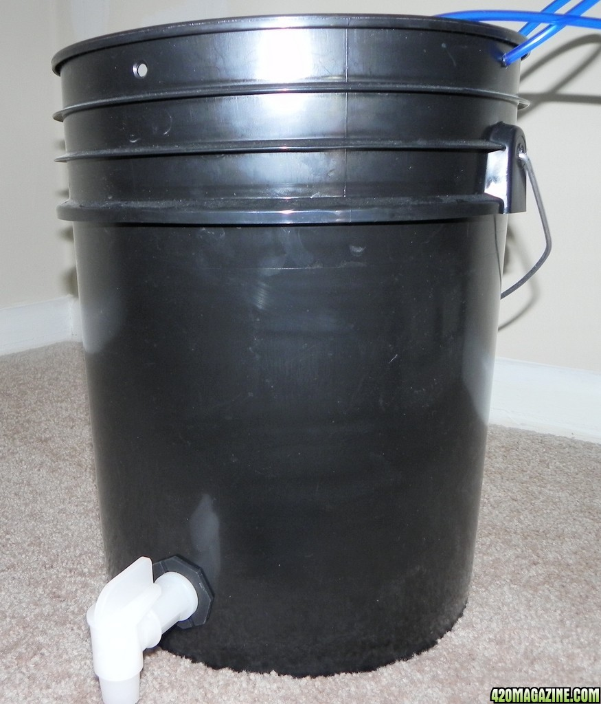 5 Gallon Bucket W Spigot Used From Brewing Compost Tea