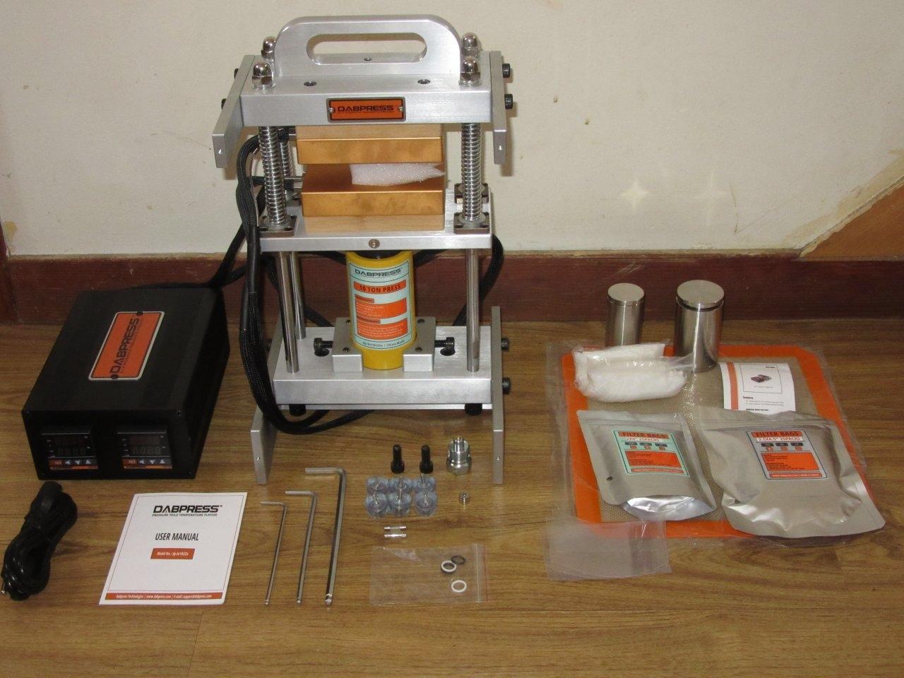 Dabpress dp-hr10t35v 10-Ton Portable Tabletop Driptech Hydraulic