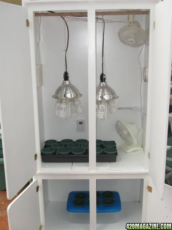 how to cool a closet grow room