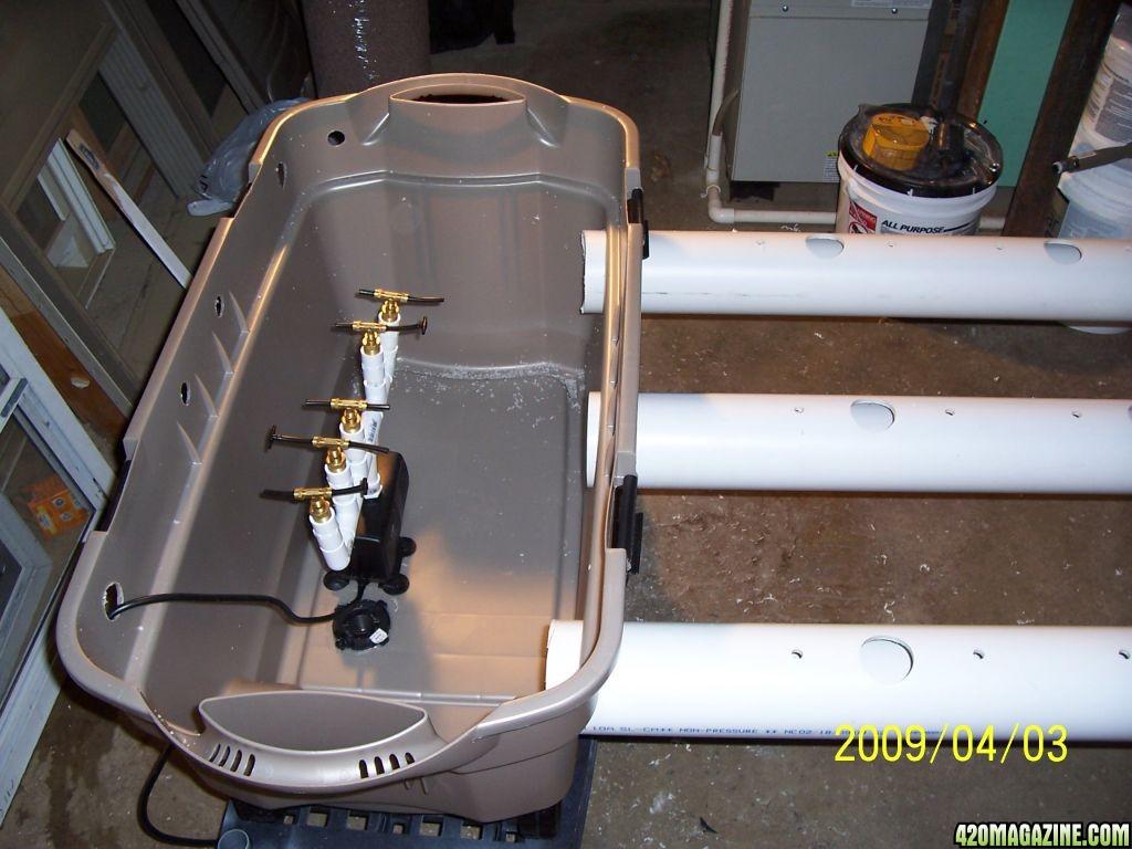 4inch PVC AeroNFT 4x5 SCROG 1200 Watts