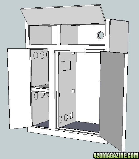 Multi chamber growbox for Grow room design plans
