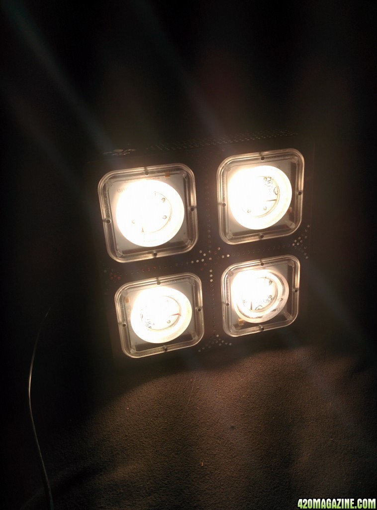 Here Are A Few Photos Of The Unit Turned On Before I Hung The Light In My  Tent For Testing.