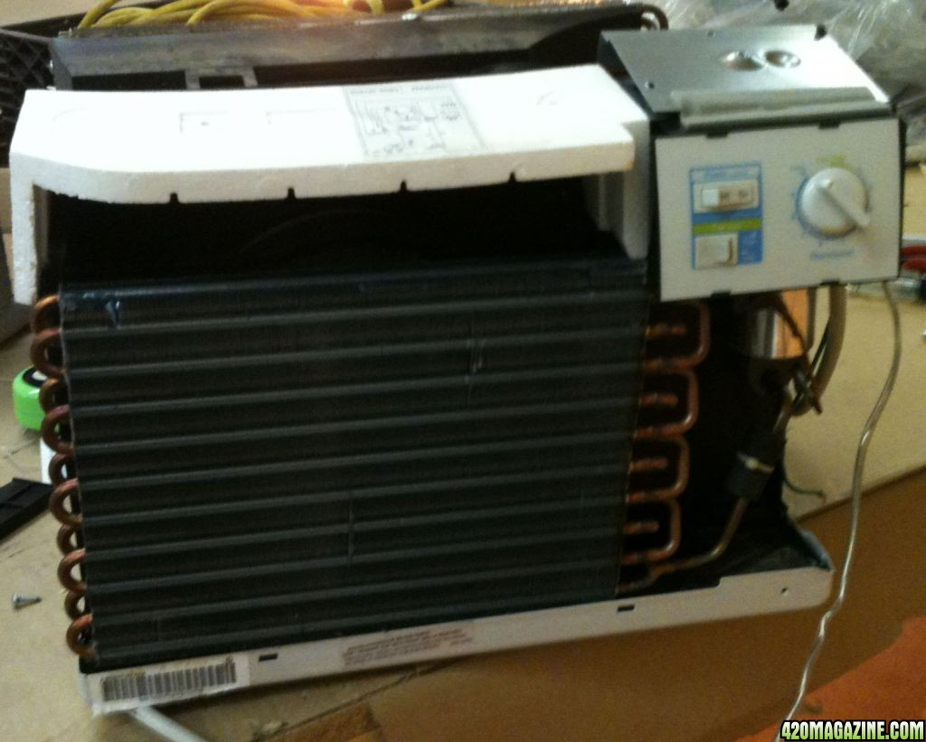 For this chiller, I scored a barely used 6000 btu basic window unit.