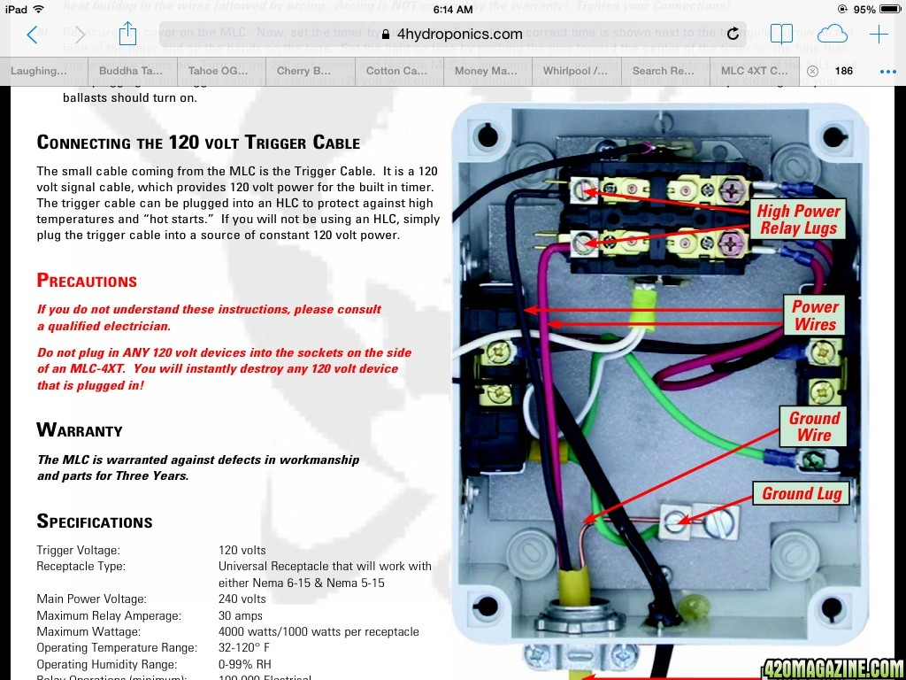 Mlc Grow Light Controller Wiring Diagram Not Lossing 1000 Watt 4xt Help 420 Magazine Rh 420magazine Com 24 Volt Box