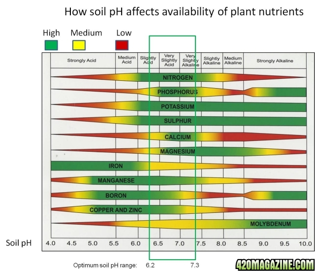 Questions about lst and ph 420 magazine for Soil nutrients