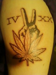 Weed Peace Tattoos | www.pixshark.com - Images Galleries ...