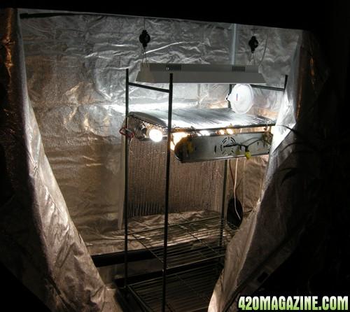 grow lab 80L grow tent half set up! & grow lab 80L grow tent half set up! - 420 Magazine Photo Gallery