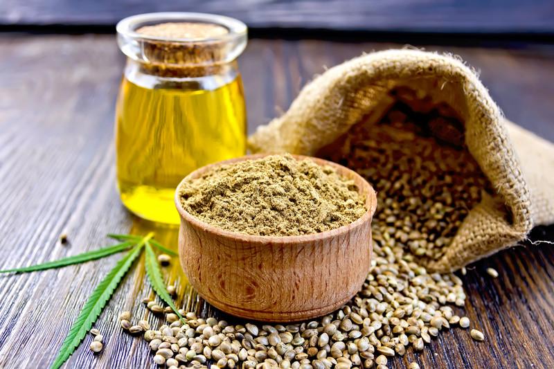 Hemp seed, flour and oil