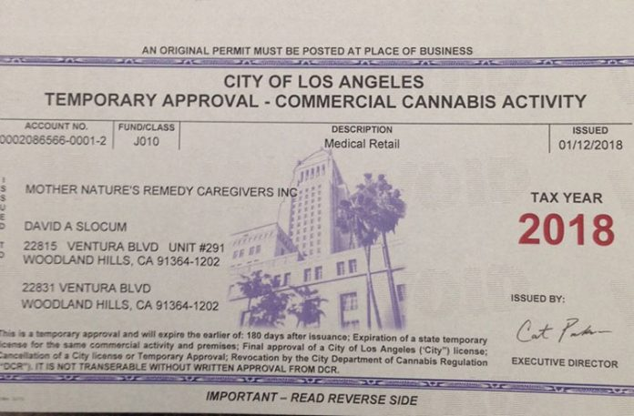Ca first cannabis licenses issued by los angeles 420 for City of la 457