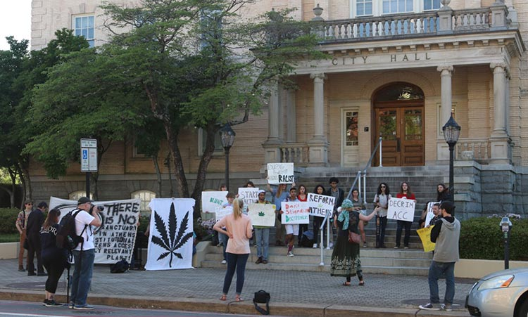 Ga Downtown Athens 420 Rally Demands Change In Treatment